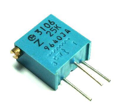 25K ohm Variable Resistor Trimpot POT3106Z-1-253 3106Z-1-253