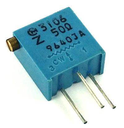 50 ohm Variable Resistor Murata Trimpot POT3106Z-1-500