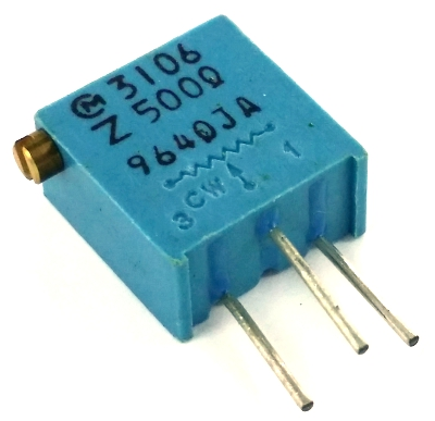 500 ohm Variable Resistor Trimpot POT3106Z-1-501 3106Z-1-501
