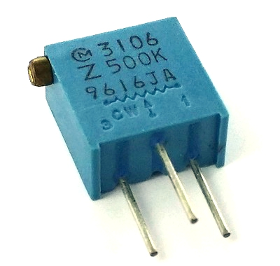 500K ohm Variable Resistor Murata Trimpot POT3106Z-1-504