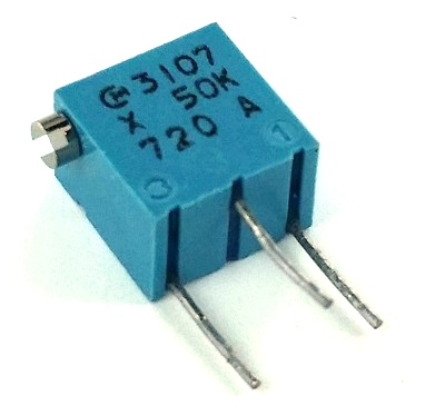 50K Ohm .25W Variable Resistor Trimpot Side Adjust Murata® POT3107X-1-503