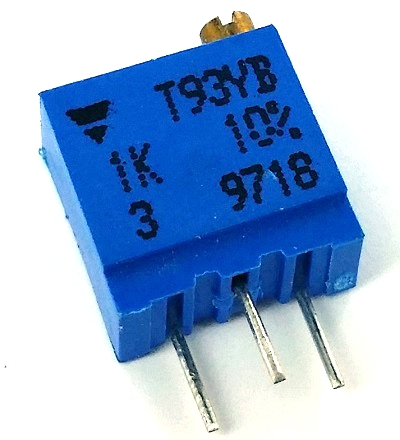 1K ohm Trimmer Potentiometer Dale T93YB102K