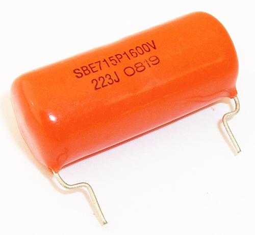 .022uF 1600V Orange Drop Polypropylene Film Capacitor SBE 715P223516MD2