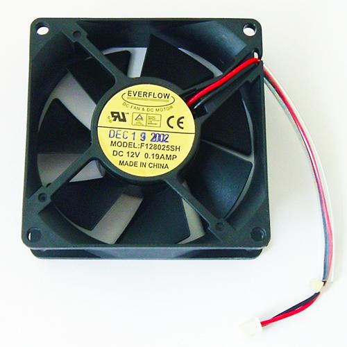12V .19A DC Cooling Fan 7 Blade Everflow F128025SH