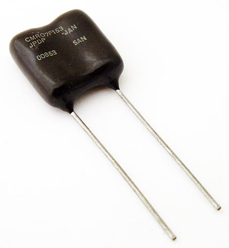 15000pF 500V 5% Silver Dipped Radial Mica Capacitor MIL Sangamo CMR07F153JPDP