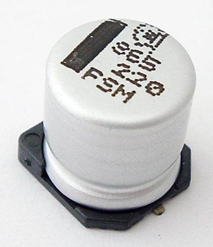 220uF 35V Surface Mount Aluminum Electrolytic Capacitors Frolyt ERSM220/35
