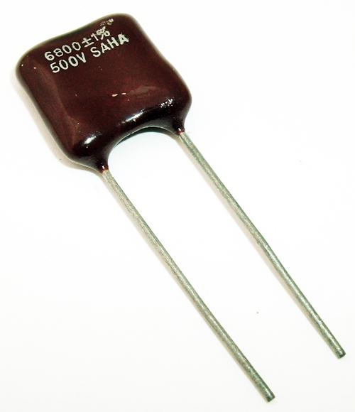 6800pF 500V Radial Dipped Mica Capacitor MIL SAHA CM07FD682F03