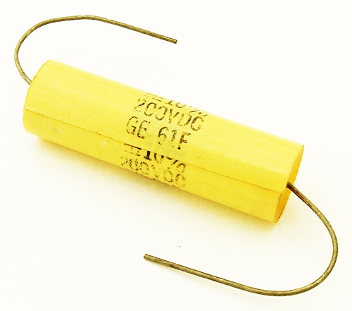 0.56uF .56uF 200V 10% Axial Film Capacitors General Electric