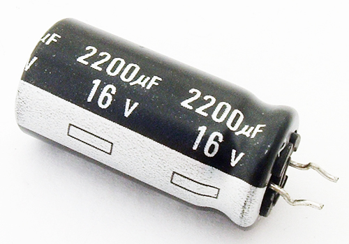 2200uF 16V Radial Electrolytic Capacitor Panasonic ECEA1CGE222E