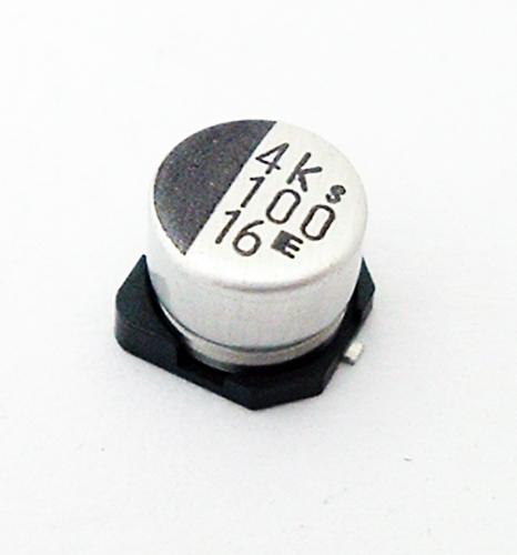 100uF 16V SMT Electrolytic Chip Capacitor Elna RVS-16V101MF55E-RRD