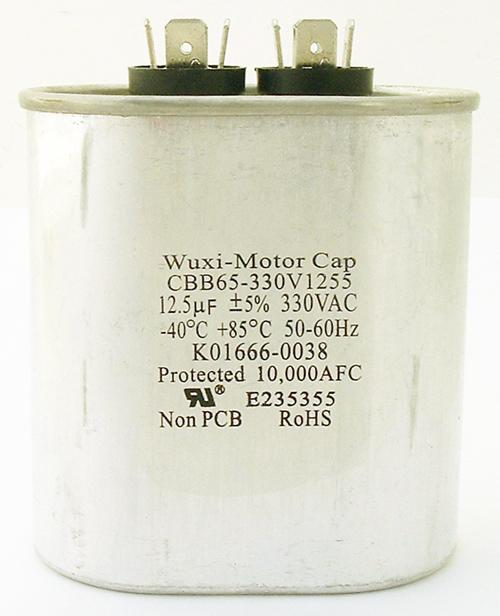 12.5uF 330VAC Motor Run Capacitor Wuxi Motor Cap CBB65-330V1255