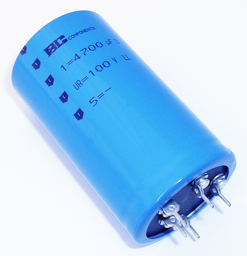 4700uF 100V Aluminum Electrolytic Capacitor PED-PW BC Components 2222-050-59472