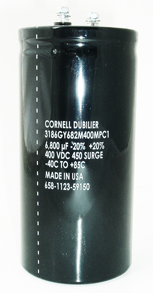 6800uF 400V Computer Grade Electrolytic Capacitor CDE 3186GY682M400MPCI