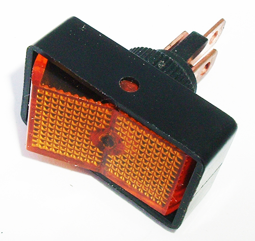 Rocker Switch 20A 12V Amber Lighted Auto