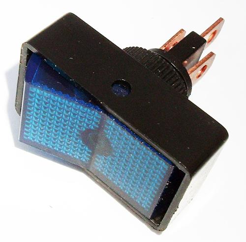 Rocker Switch 20A 12V Blue Lighted Auto