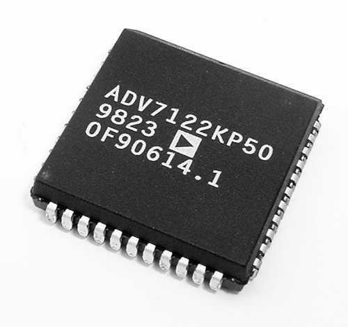 ADV7122KP50 CMOS 80MHz Triple 10-Bit Video DACS Analog Devices