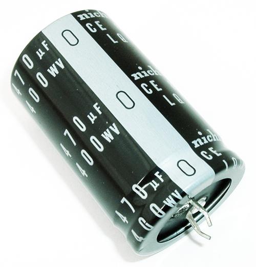 470uF 400V Snap In Aluminum Electrolytic Capacitor Nichicon LLQ2G471MHSB