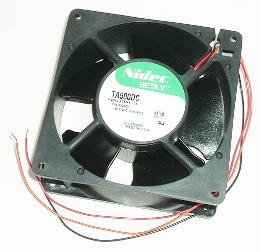 48V .28A Beta V Widebody Cooling Fan Nidec TA500DC A34744
