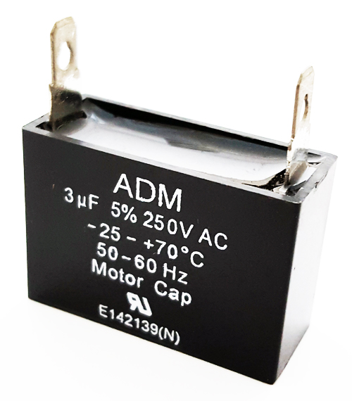3uF 250VAC Motor Run Capacitor Metallized Polyester ADM250A305J
