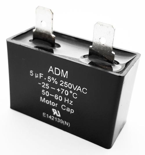 5uF 250VAC Motor Run Capacitor Metallized Polyester ADM250E505J