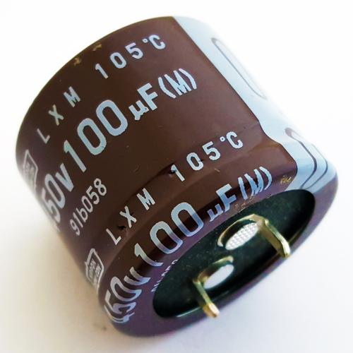 100uF 450V Snap In Electrolytic Capacitor Nippon Chemi-Con ELXM451VSN101MR25S