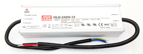 HLG-240H-125 12V 16A 192W AC-DC Converter Power Supply Mean Well