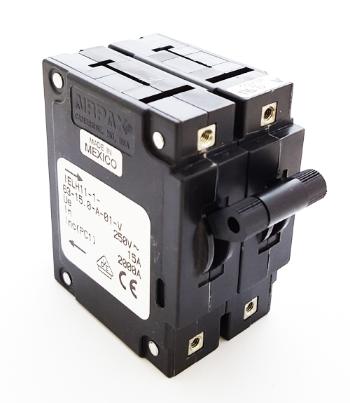 IELH11-1-63-15.0-A-01-V 15A 250V Circuit Breaker Hydraulic Magnetic Airpax