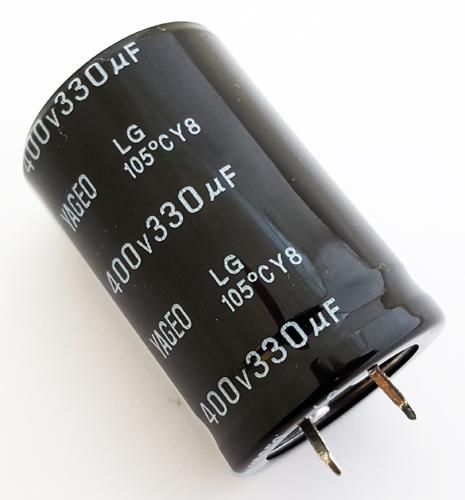 330uF 400V Snap In Aluminum Electrolytic Capacitor Yageo LG400M0330BPF-3045