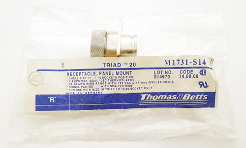 M1731-S14 14 Position Circular Receptacle Connector Thomas & Betts