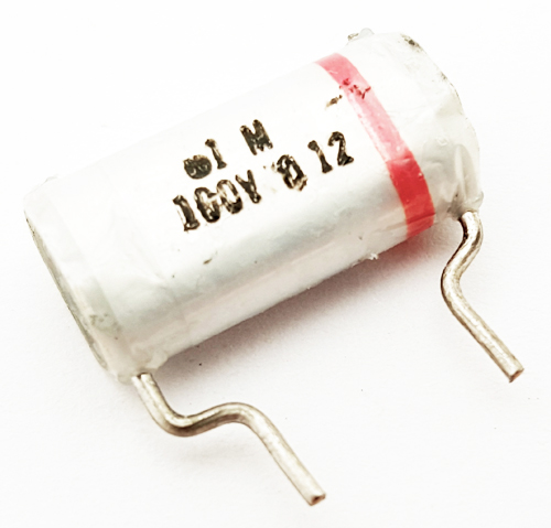 0.1uF 100V Vintage Paper Capacitor ITW
