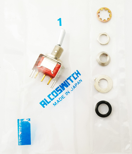 Toggle Switch 0.4VA 20VAC-DC SPDT ON-ON Alcoswitch A101P3CWV30B