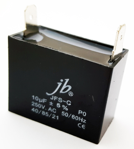 10uF 250VAC Motor Run Metalized Film Capacitor JB Capacitors JFS-C Series