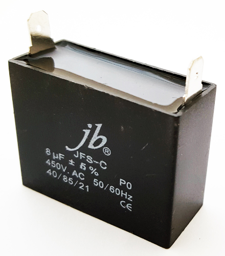 8uF 450VAC Motor Run Metalized Film Capacitor JB Capacitors JFS-C Series