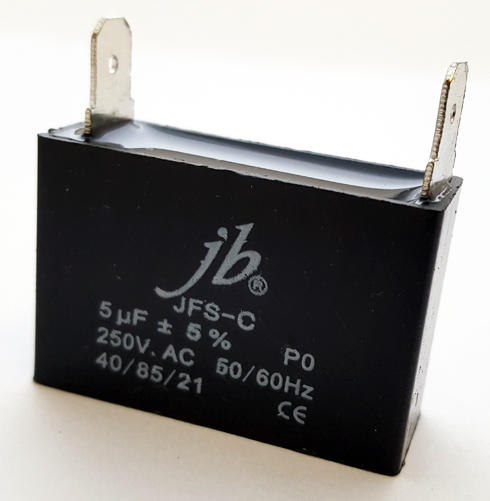 5uF 250VAC Motor Run Capacitor JB Capacitors JFS-C Series