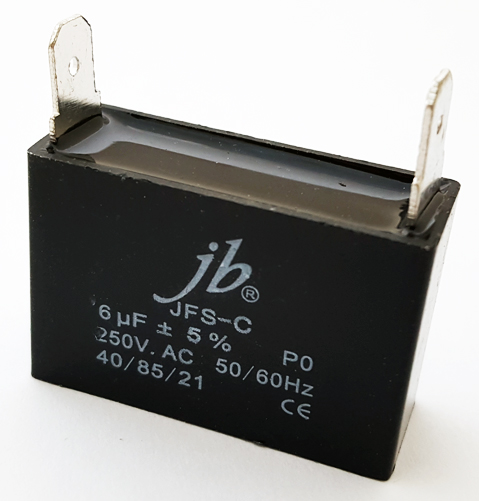 6uF 250VAC Motor Run Capacitor Metalized Film JB Capacitors JFS-C Series