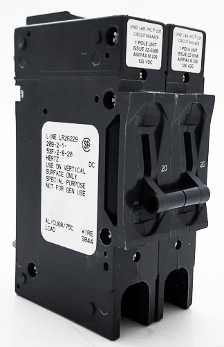 209-2-1-53F-2-8-20 20A 125V Magnetic Circuit Breaker Airpax