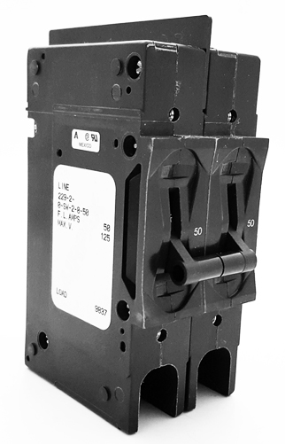 229-2-0-SW-2-8-50 50A 125V Circuit Breaker Switch 2-Pole Airpax