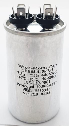 7.5uF 440VAC Motor Run Capacitor Wuxi CBB65-440R755