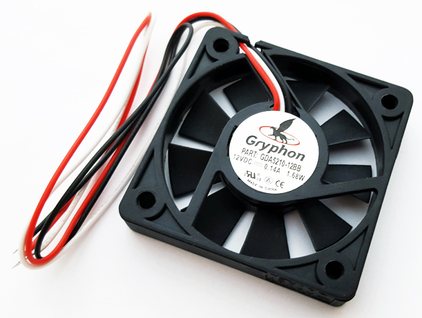 12V .14A Gryphon Series DC Fan Comair Rotron GDA5210-12BB