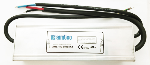 AMER90-50180AZ 36-50V 1.8A 90W LED Driver Power Supply Waterproof Aimtec