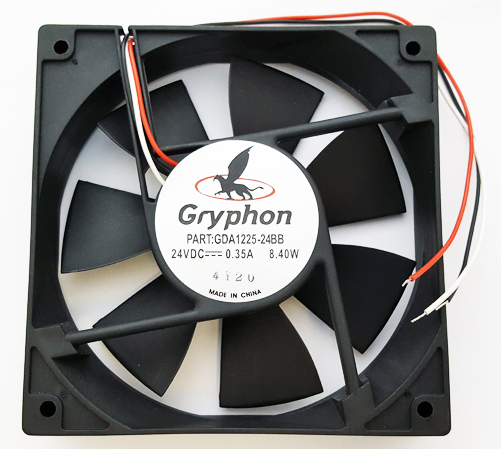 24V .35A 8.4W Gryphon Series DC Fan Comair Rotron GDA1225-24BB