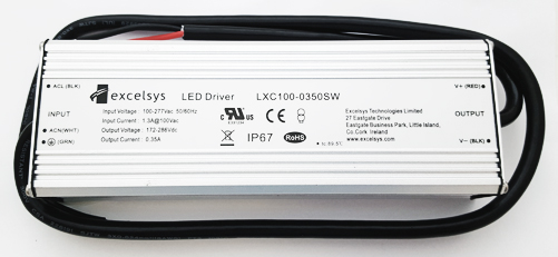 LXC100-0350SW 350mA 172-286V 100W LED Driver Power Supply Excelsys