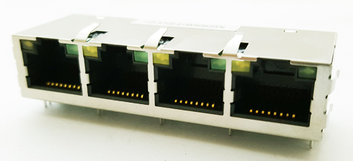 RJGE4K5430C-R 4-Channel RJ45 Integrated Connector Module Delta