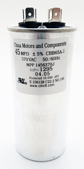 45uF 370VAC Motor Run Capacitors CMC U17-1295 MPP1456370J
