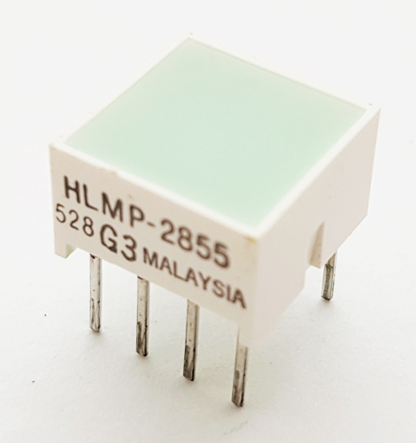 Square LED Light Bar Module Green Hewlett Packard HLMP-2855