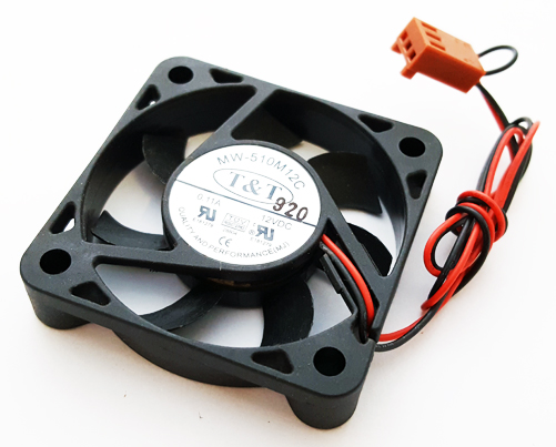12V 0.11Amp Chipset Cooling Fan T & T MW-510M12C