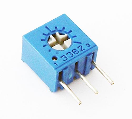 10K Ohm .50W Trimmer Potentiometer Bourns 3362M-1-103