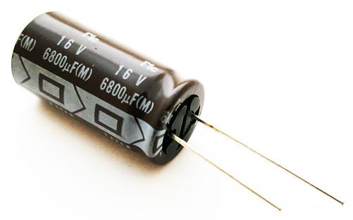 6800uF 16V Radial Electrolytic Capacitor NIC NRWS682M16V16X31