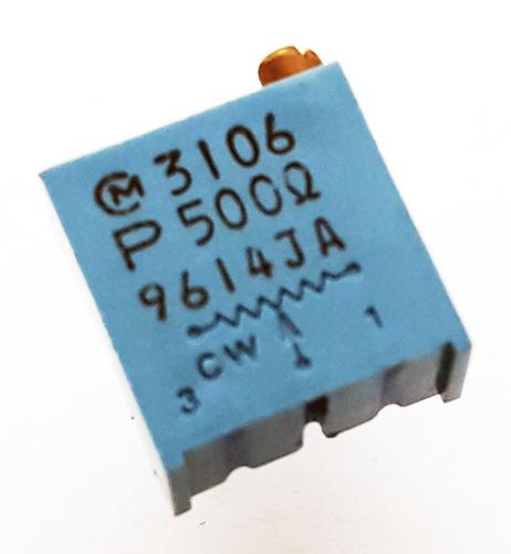 500 Ohm Trimmer Potentiometer Variable Resistor Murata POT3106P-1-501