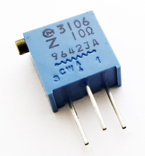 10 ohm Variable Resistor Trimpot Murata POT3106Z-1-100